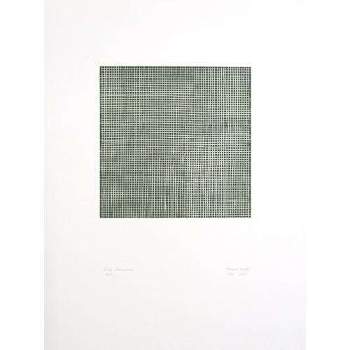 Gouge, Linogravure, Vert
