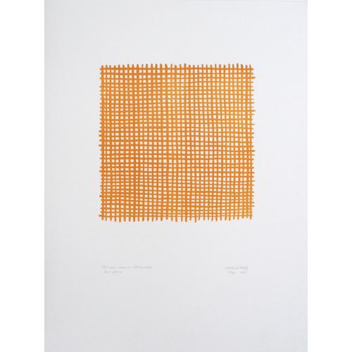 Pinceau et encre, lithographie, Ocre jaune