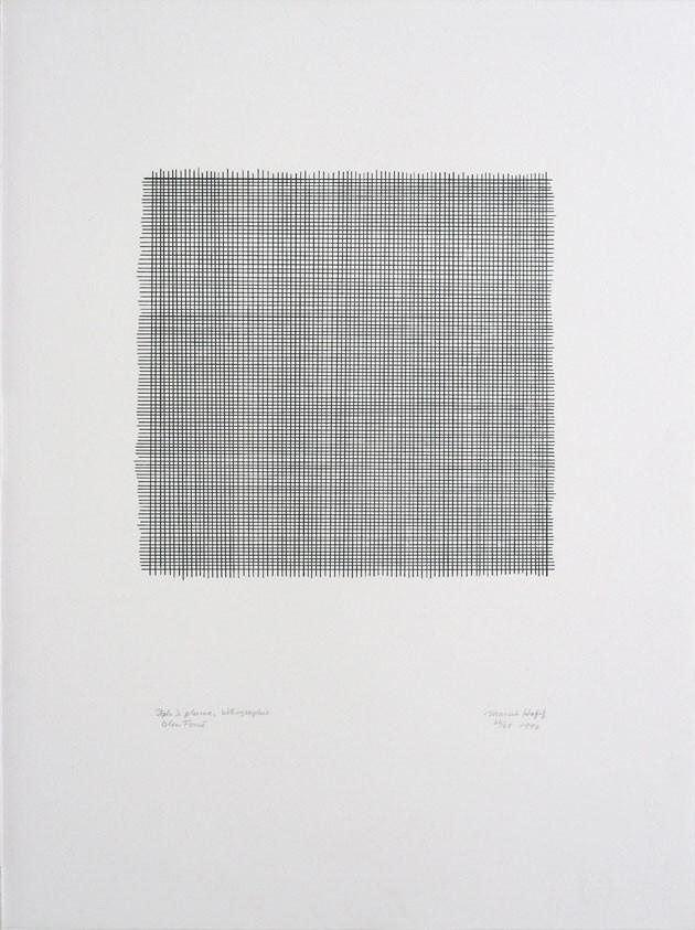 Stylo à plume, Lithographie Bleu foncé