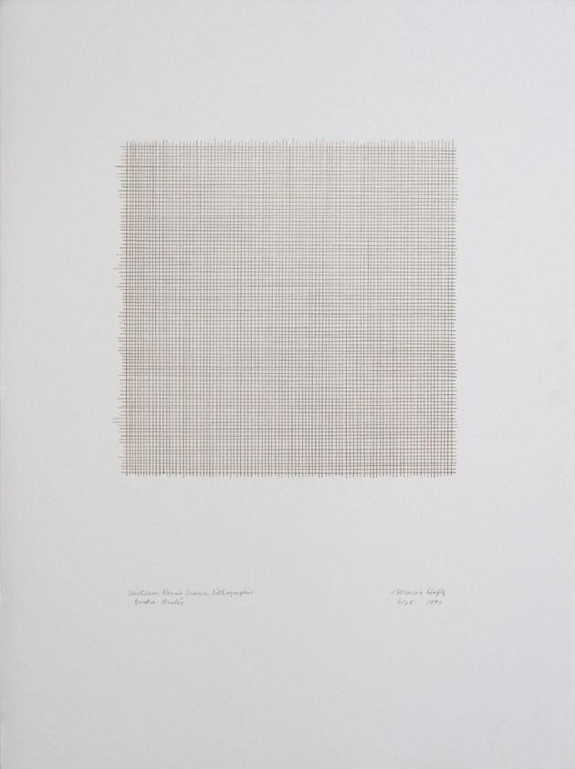 William Korns crayon, Lithographie Ombre brûlée