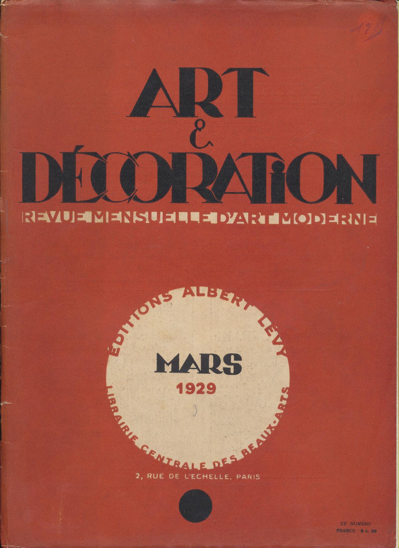 art et d coration revue mensuelle d 39 art moderne ann e