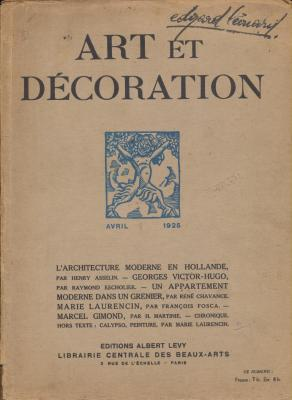 art-et-decoration-revue-mensuelle-d-art-moderne-annee-1925-avril