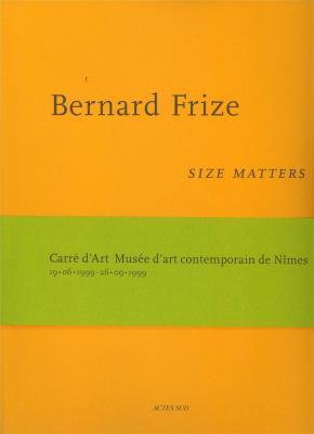 bernard-frize-size-matters-exemplaire-d-occasion-etat-neuf-