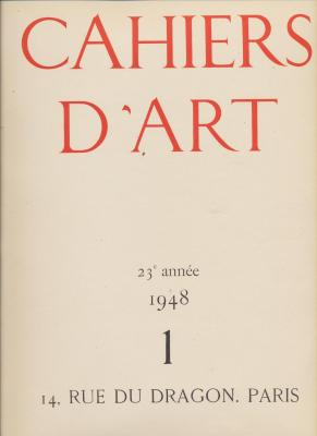 cahiers-d-art-1948-no-1-23eme-annee-picasso