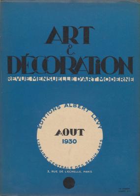 art-et-decoration-revue-mensuelle-d-art-moderne-annee-1930-aout