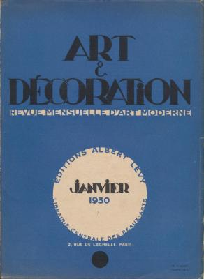 art-et-decoration-revue-mensuelle-d-art-moderne-annee-1930-janvier