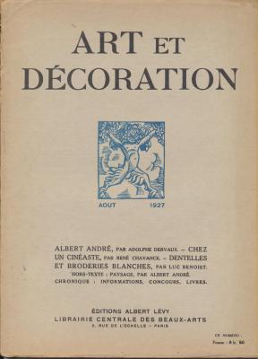 art-et-decoration-revue-mensuelle-d-art-moderne-annee-1927-aout