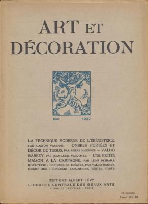 art-et-decoration-revue-mensuelle-d-art-moderne-annee-1927-mai