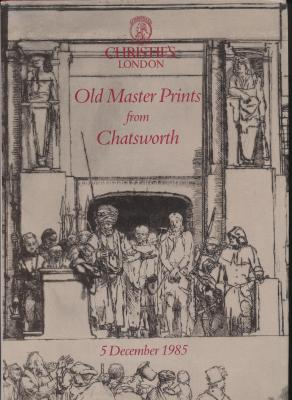 old-master-prints-from-chatsworth-vente-christie-s-thursday-5-december-1985