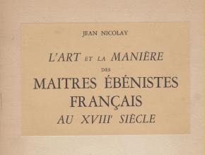 l-art-et-la-maniEre-des-maItres-Ebenistes-franÇais-au-xviiiEme-siEcle-2-volumes-