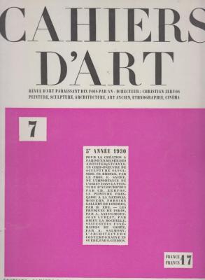 cahiers-d-art-numEros-1-2-3-4-5-6-7-annEe-1930