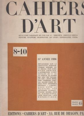 cahiers-d-art-8-10-11Eme-annEe-1936-