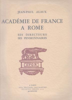 acadEmie-de-france-À-rome-ses-directeurs-ses-pensionnaires-