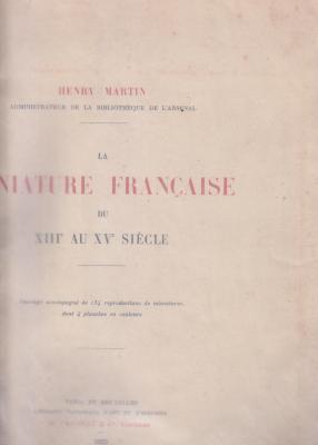 la-miniature-franÇaise-du-xiiie-au-xve