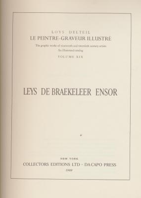 le-peintre-graveur-illustrE-leys-de-braekeleer-ensor-catalogue-raisonnE-de-l-oeuvre-gravE