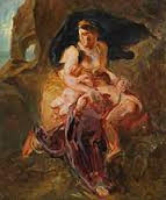 esquisses-peintes-de-l-Epoque-romantique-delacroix-cogniet-scheffer-